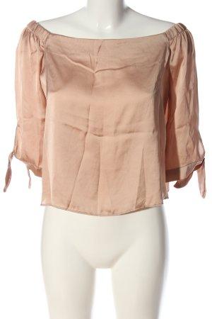 Bershka Carmen blouse nude casual uitstraling