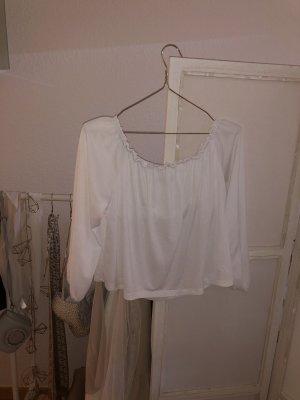 Bershka Carmen blouse wit