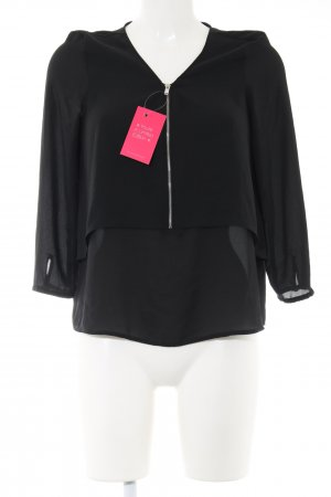 Bershka Carmen blouse zwart zakelijke stijl