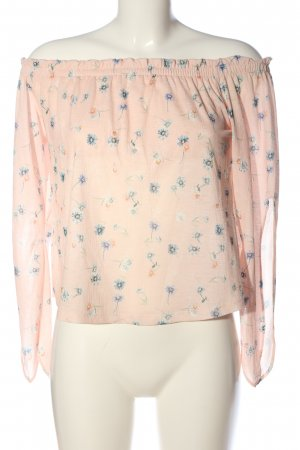 Bershka Carmen blouse volledige print casual uitstraling