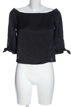 Bershka Carmen-Bluse schwarz Casual-Look