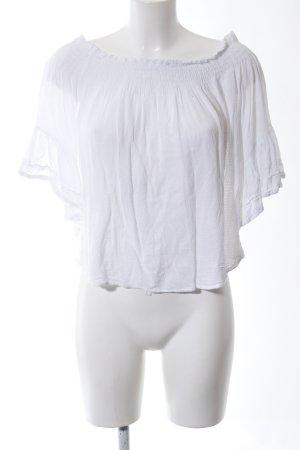 Bershka Blusa alla Carmen bianco stile casual