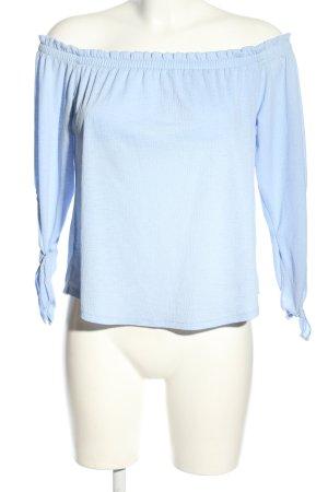 Bershka Carmen-Bluse blau Casual-Look