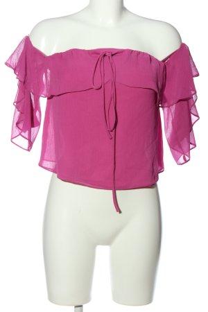 Bershka Carmen-Bluse pink Casual-Look