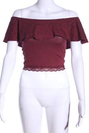 Bershka Carmenshirt rot Casual-Look