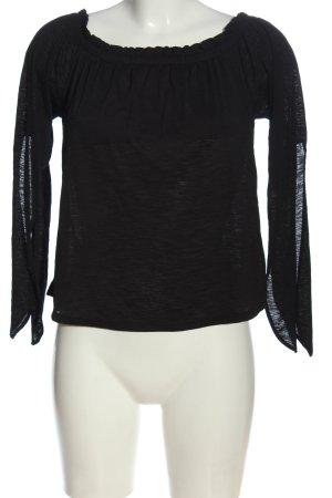 Bershka Koszula typu carmen czarny W stylu casual