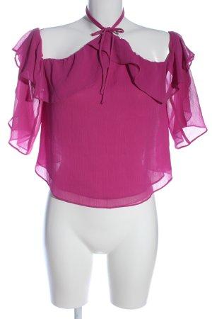 Bershka Koszula typu carmen różowy Elegancki