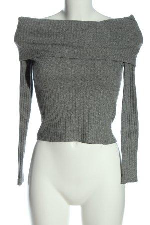 Bershka Camisa tipo Carmen gris claro moteado look casual
