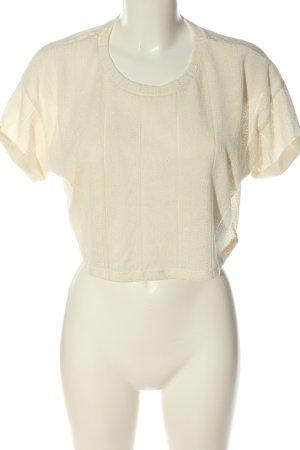 Bershka Cropped Pullover creme Casual-Look