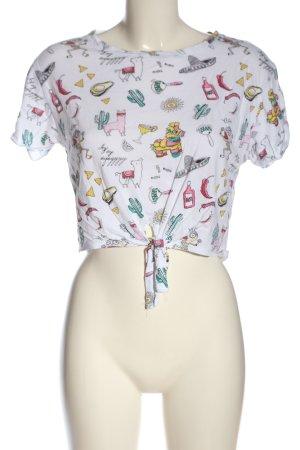 Bershka Cropped shirt volledige print casual uitstraling
