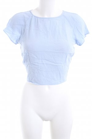Bershka Camicia cropped blu stile casual