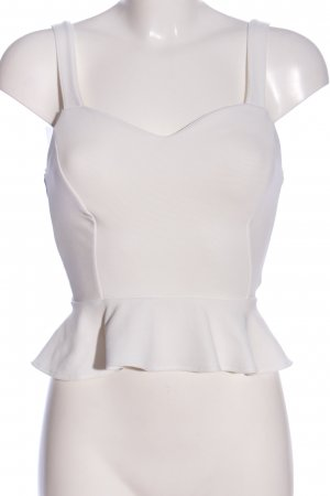 Bershka Blusa bianco stile casual
