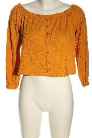 Bershka T-shirt court orange clair style décontracté