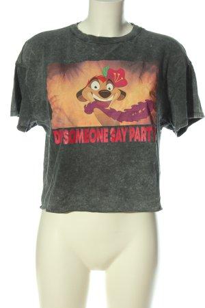 Bershka T-shirt court imprimé avec thème style décontracté