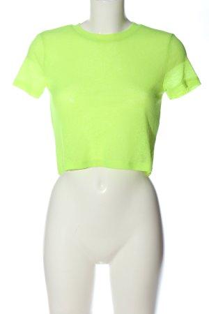 Bershka Cropped shirt groen casual uitstraling