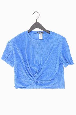 Bershka Cropped Shirt blue-neon blue-dark blue-azure