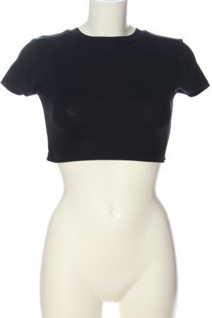 Bershka Cropped top zwart casual uitstraling