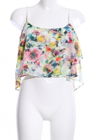 Bershka Cropped Top flower pattern casual look