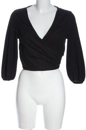 Bershka Cropped Top black casual look