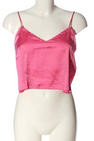 Bershka Cropped Top pink Casual-Look
