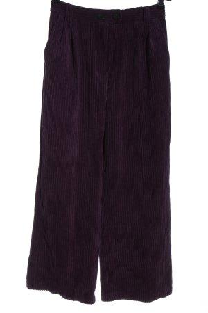 Bershka Culotte violet motif rayé style décontracté