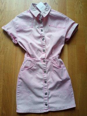 Bershka Denim Kleid 36 Rosa