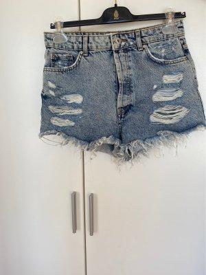 Bershka Denim Shorts, helle Waschung