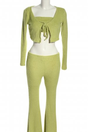 Bershka Dreiteiler grün Casual-Look