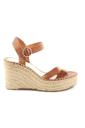 Bershka Wedges Sandaletten braun Elegant