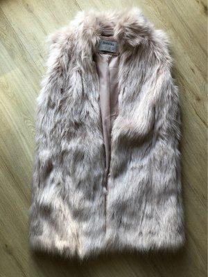 Bershka Fake Fur Weste Größe S