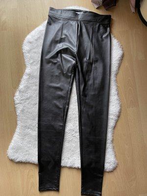 Bershka Pantalone in pelle nero