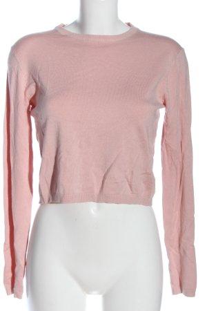 Bershka Fine Knit Jumper pink casual look