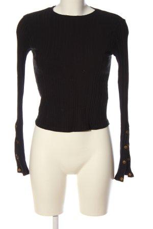 Bershka Fine Knit Jumper black casual look