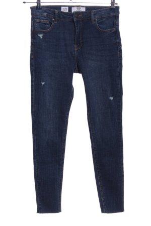 Bershka Five-Pocket-Hose blau Casual-Look