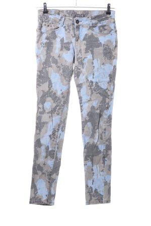 Bershka Five-Pocket Trousers camouflage pattern casual look