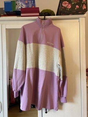 Bershka Swetrowa sukienka szary-liliowy