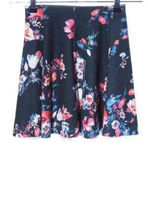 Bershka Flared Skirt flower pattern casual look