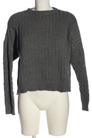 Bershka Jersey de punto grueso gris claro look casual