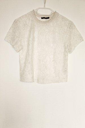 Bershka Gehaakt shirt veelkleurig Polyester
