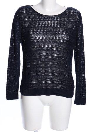 Bershka Jersey de ganchillo negro look casual