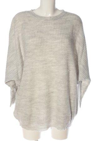 Bershka Szydełkowany sweter jasnoszary W stylu casual