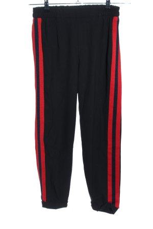 Bershka Pantalón estilo Harem negro-rojo look casual