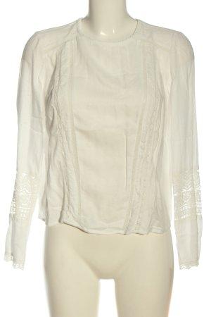 Bershka Hemd-Bluse wollweiß Elegant