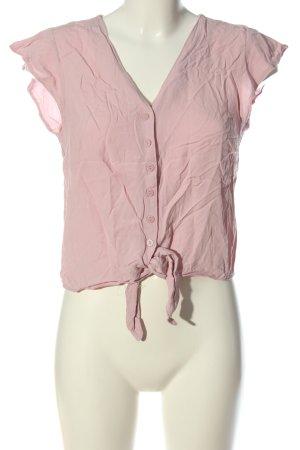 Bershka Hemd-Bluse pink Allover-Druck Casual-Look