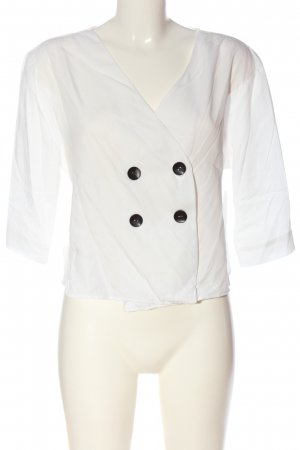 Bershka Camicia blusa bianco elegante