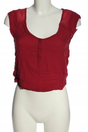 Bershka Blouse-chemisier rouge style décontracté