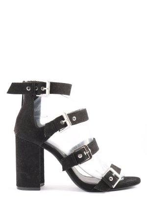 Bershka High Heel Sandaletten schwarz Casual-Look