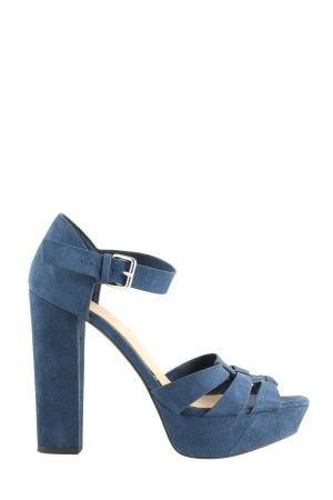 Bershka High Heel Sandaletten blau Casual-Look