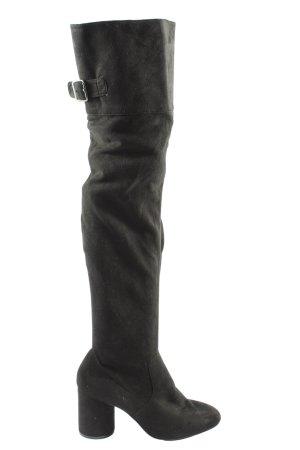 Bershka High Heel Stiefel schwarz Casual-Look