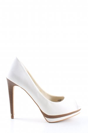 Bershka High Heels weiß Casual-Look
